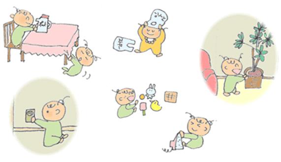 Peligros para bebés en casa