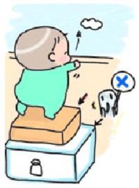 Peligro de bebé a punto de caer balcón