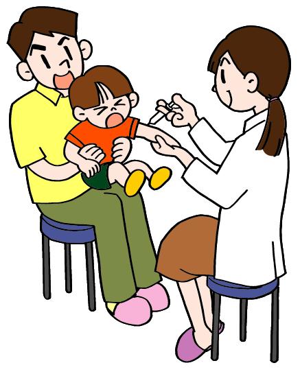 Vacunación de niño pequeño
